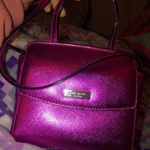 Kate spade metallic pink crossbag